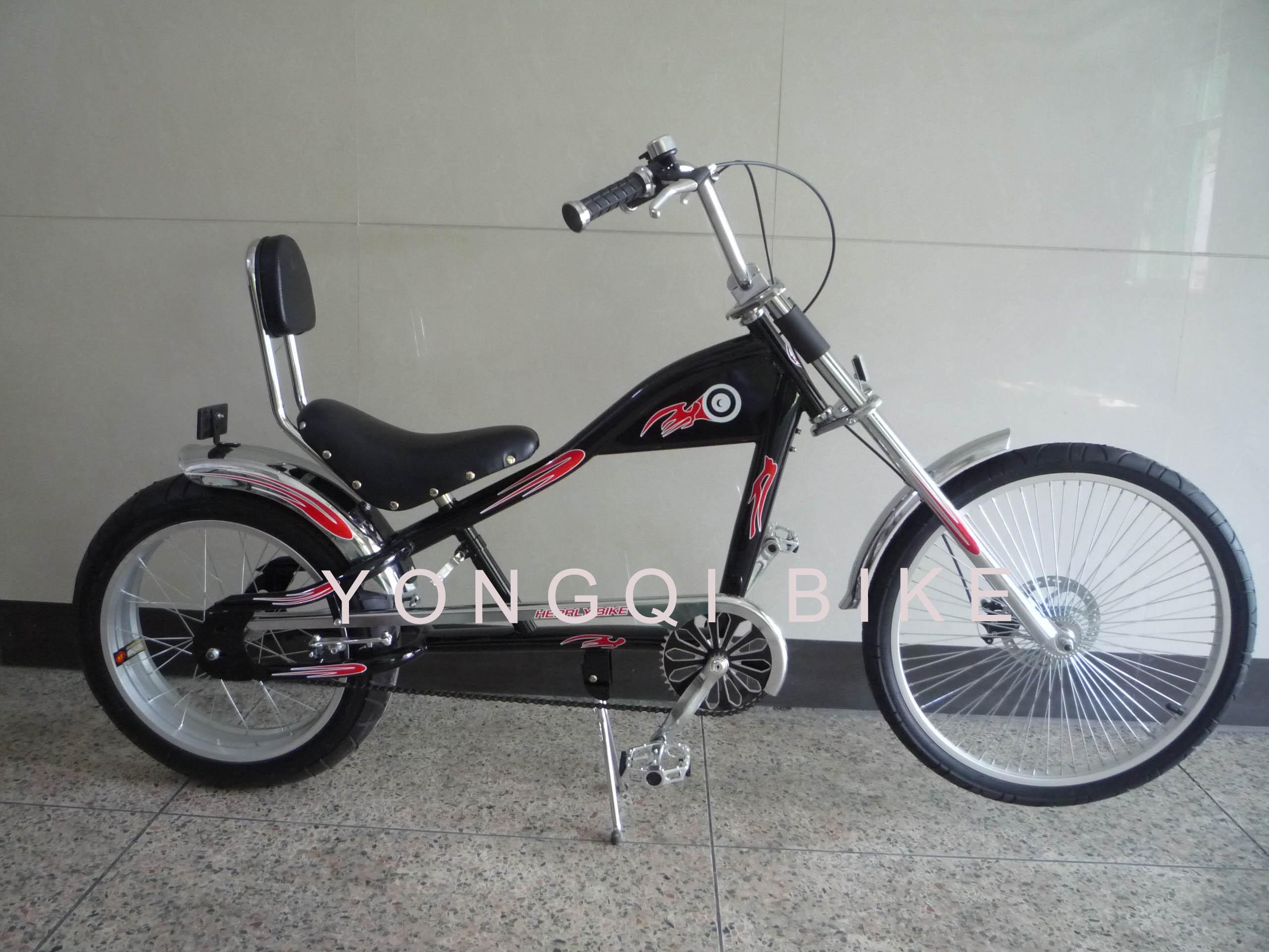24寸哈雷沙滩自行车哈雷车太子车限9000张券