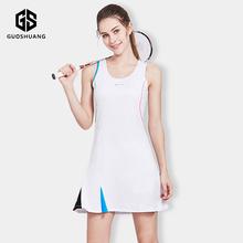 运动羽毛球连衣裙女夏网球裙修身收腰性感网球裙子背心连体套装