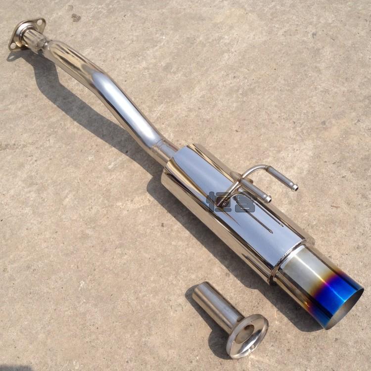 八代思域排气管改装跑车声浪 本田新飞度改装排气尾段 低沉跑车音