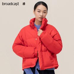 播冬装女士新款韩版休闲红色羽绒服短款女DDM9RD620 几度枫红