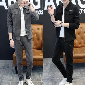 三件套男士春季套装一套卫衣服韩版潮流搭配休闲痞帅气春秋季外套