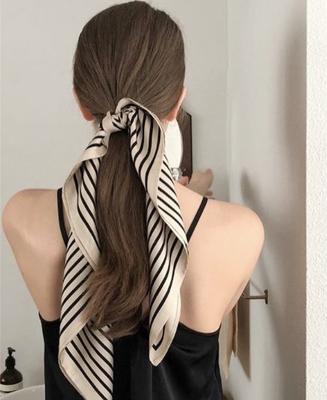 实物更美~新款复古防晒小丝巾发带