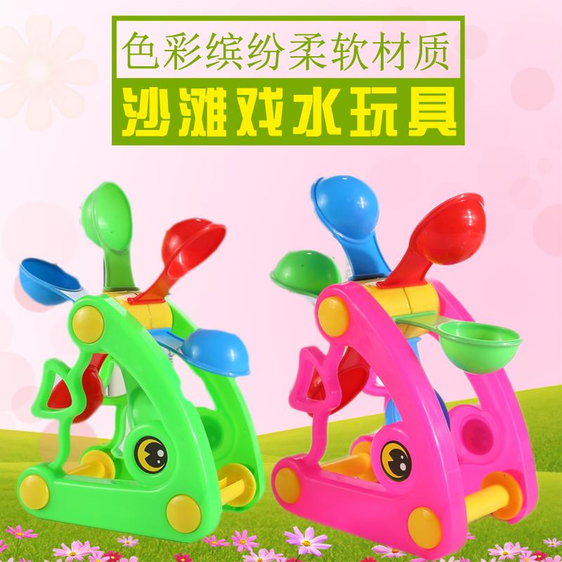 儿童沙滩玩具鱼沙漏车套装宝宝玩沙挖铲子戏水洗澡决明子玩具批发
