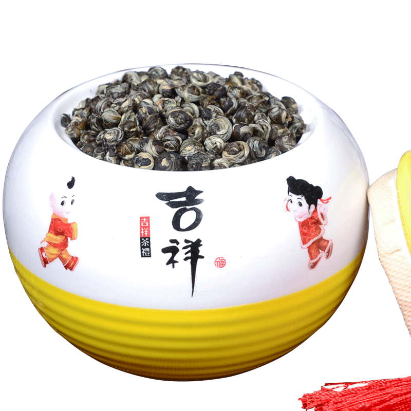 Jasmine tea strong fragrance new tea jasmine Dragon Pearl Jasmine tea leaf gift box 250g bulk flower tea tea