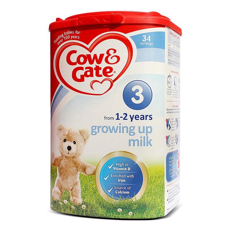 《福聚优品》英国牛栏Cow&Gate 婴幼儿奶粉 3段1岁以上 900g