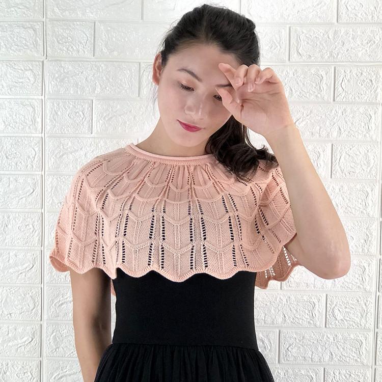 东润莲原创短外套  2018夏季新款女装斗篷小外套全棉针织空调罩衫