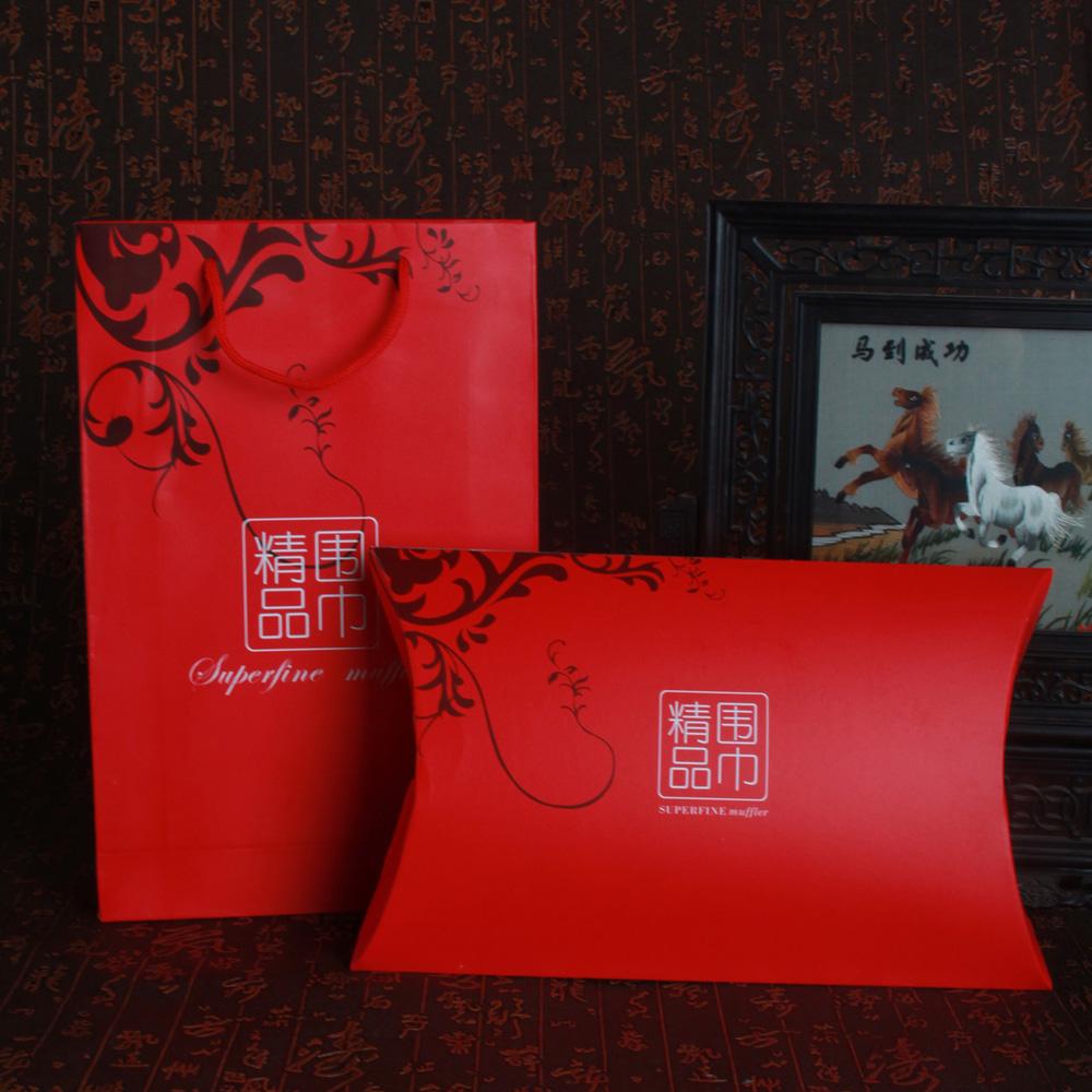 Оптовая торговля стандарт полноценный шелк шелк шарфы шарф пакет подарочные коробки ( в коробка + ридикюль ) подарок звезда упаковка мешок