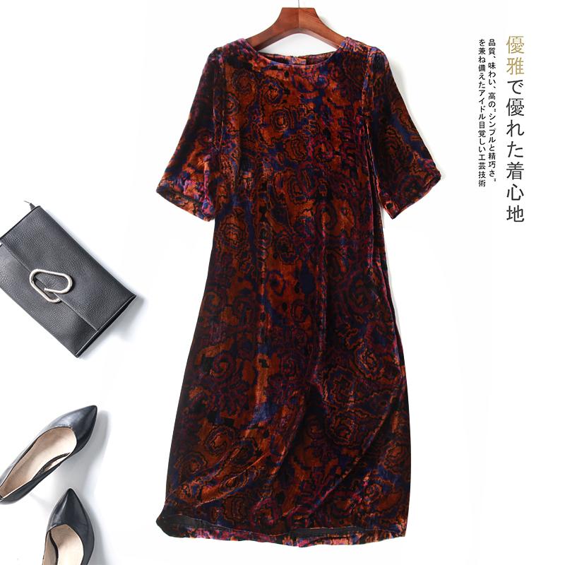 立体花连衣裙