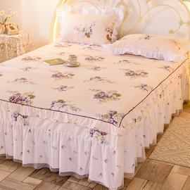 单件床裙床罩纯棉床裙式全棉床套防滑1.8米2.0m荷叶边床单保护罩