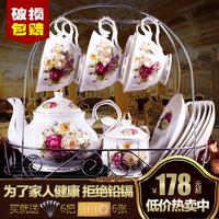 15 голову кофе отрицать континентальный керамика чашка инструмент церемония британская днем чай кофе установите континентальный домой чайный сервиз