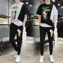 2019新款原创短袖套装男t恤学生运动潮流A472T32P70