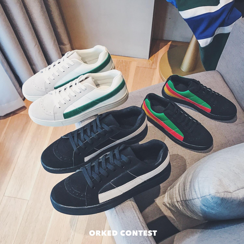 2018 новая весна модель корейский INS чистый красный тенденция обувь обувь casual студент красивый молодежь bf ветер мужская обувь сын