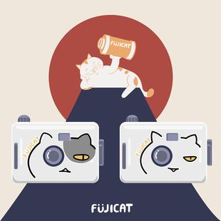 当天发货 FUJICAT胶片胶卷复古可爱傻瓜相机情侣生日礼物礼盒套装