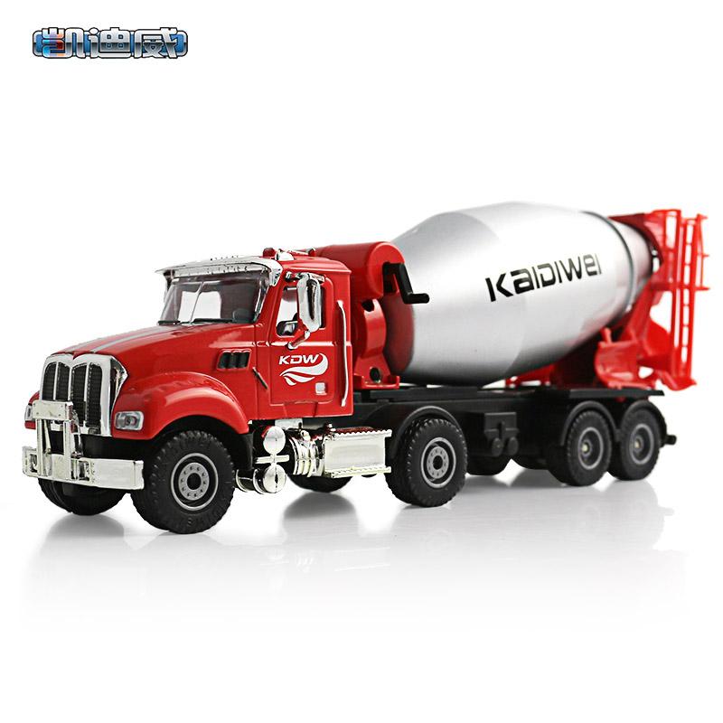 凯迪威合金工程车625107美式水泥搅拌车建筑工地金属玩具汽车模型