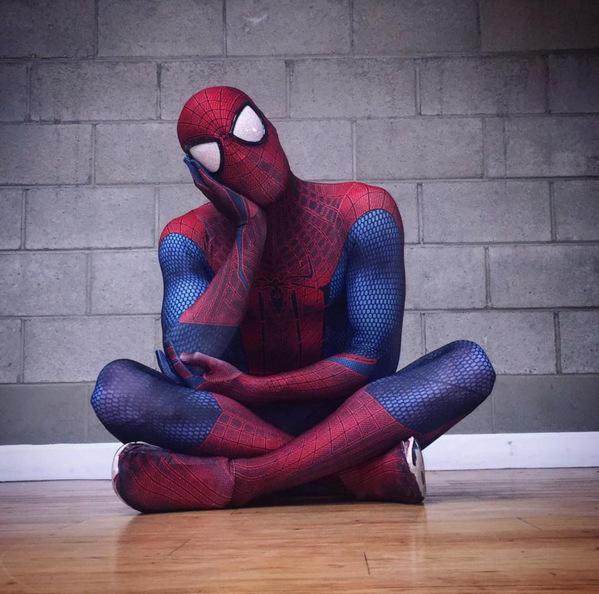 スパイダーマンThe Amazing Spider-Manストレッチプリントタイツコスプレ连体服