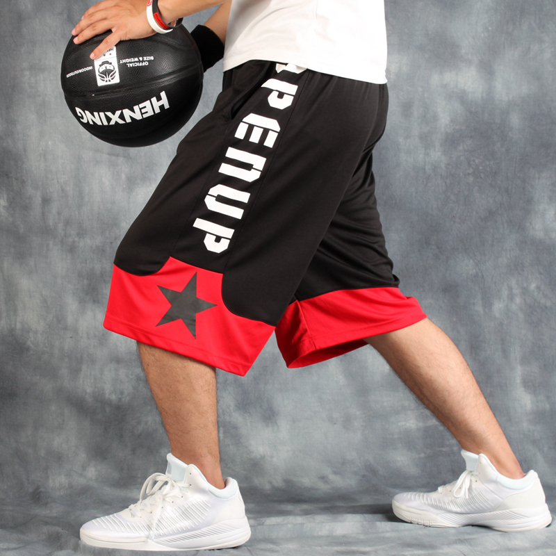 Basketball Shorts / streetball Pants / summer loose and breathable over the knee hip hop large size / mens sports shorts