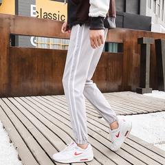 新品短裤日系男棉麻长裤亚麻织带束脚休闲裤长裤 K83-30
