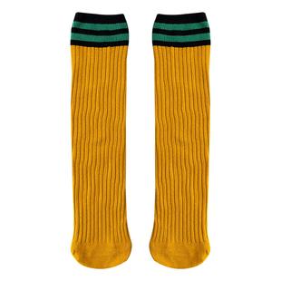 堆堆襪子女秋冬長筒襪日系ins潮韓國學院風二槓條紋純棉長襪中筒