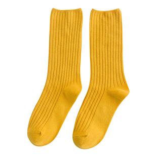 堆堆襪女運動黑色百搭ins潮純棉學院風日系秋冬中筒韓國長襪女