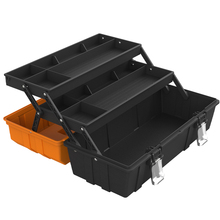 Toolbox Hardware Household Multifunctional Maintenance Vehicle Art Carried Plastic Hand-held Three-Layer Folding Receiving Box