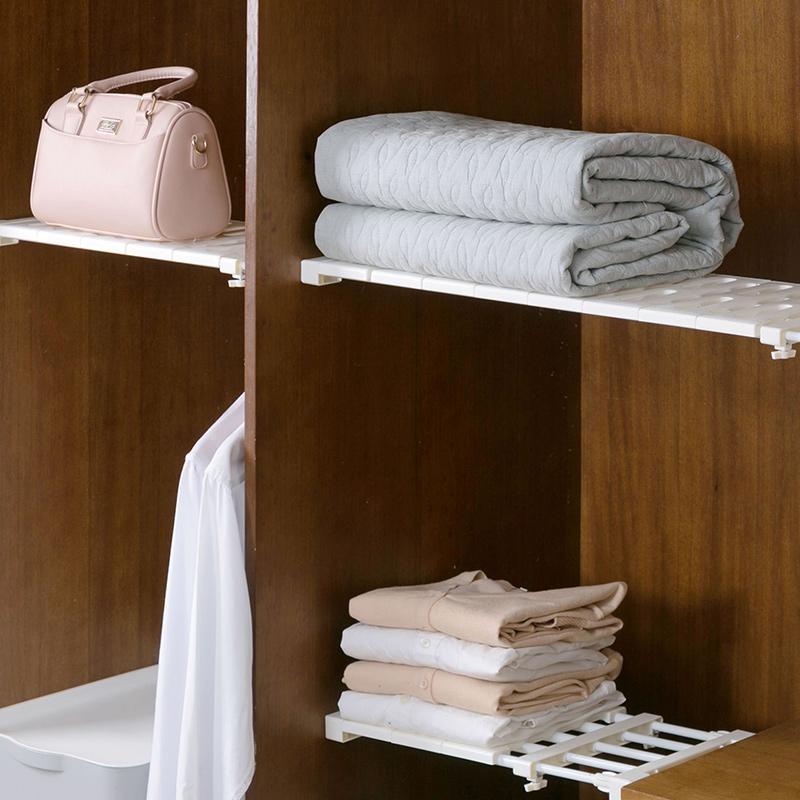 居家家 衣柜伸缩隔板柜子隔层分隔板 宿舍橱柜分层置物架分隔层架