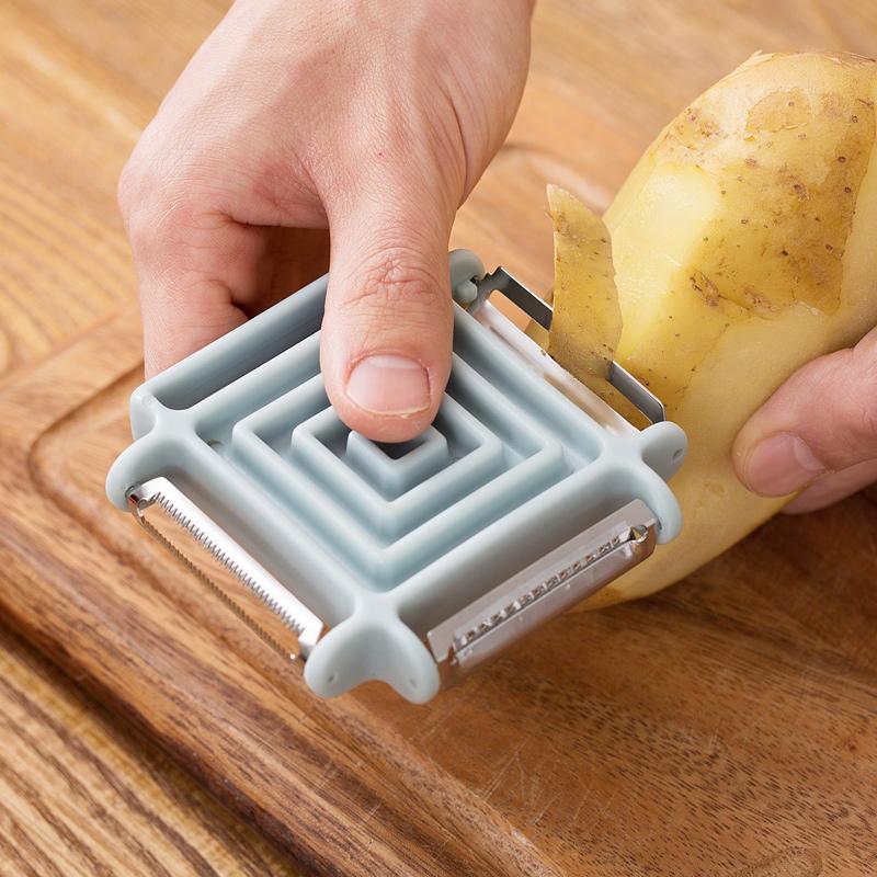 满8.90元可用0.8元优惠券居家家三刃水果削皮刀厨房切丝器刨刀家用削苹果刮皮刀土豆削皮器