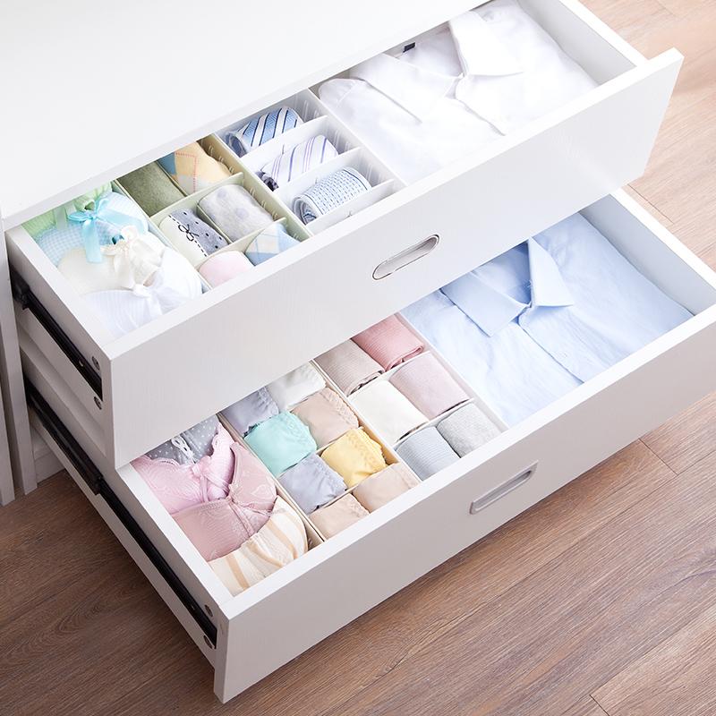 居家家塑料收納箱分隔桌面內褲襪子收納整理箱抽屜分類內衣收納盒
