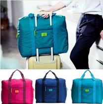 提花包衣服整理袋韩版出差旅游收纳袋防水尼龙折叠式旅行收纳包