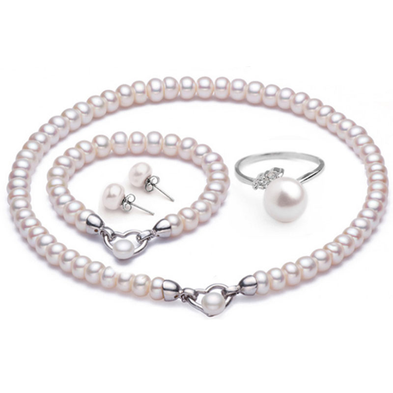 Danshui pearl necklace set gives mother a multi wearing pearl sweater chain [with quality certificate]