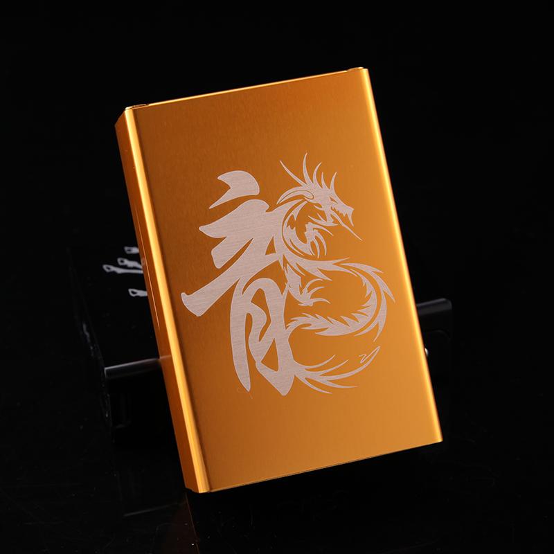 10-13新券来福包邮20支装烟盒滑盖超薄自动弹盖 创意金属香菸盒定制刻字