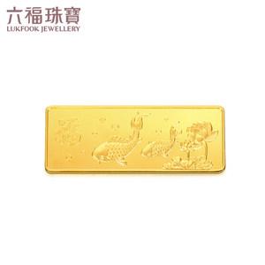 六福珠宝20克足金金条投资计价