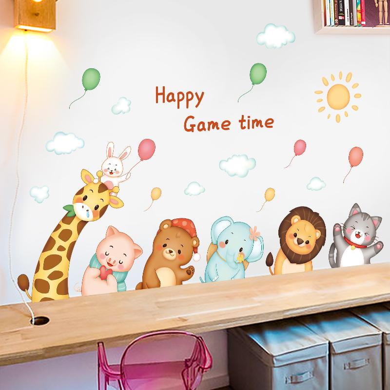 卡通儿童房墙面装饰贴画床头墙纸好用吗