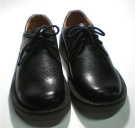 日系大头鞋男圆头复古工装鞋头层牛皮真皮低帮文艺马丁鞋宽头皮鞋
