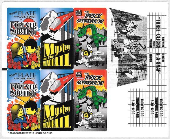 全新 乐高 Lego 10232 原装套装贴纸 大剧院 moc