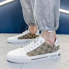2021夏季男鞋简约运动鞋时尚板鞋透气帆布鞋休闲鞋子X6748-P85