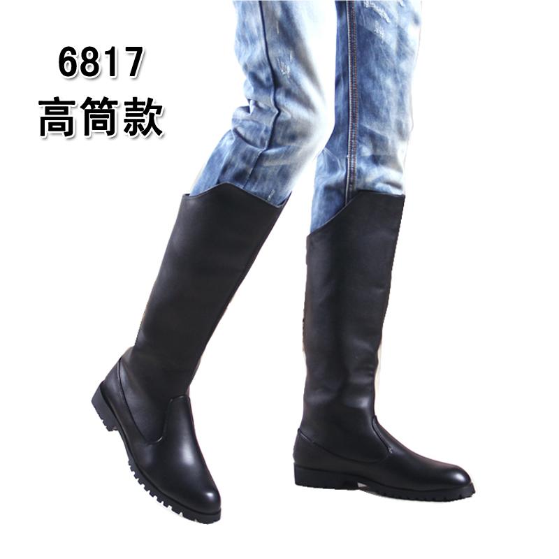 高筒の男女のマーティンの靴の2戦の靴のファッションの士の革靴の機関車の騎士靴の英倫の高くなる靴