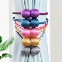 窗帘绑带一对装窗帘扣创意可爱绑绳子磁铁结绑扣配件轻奢装饰系带
