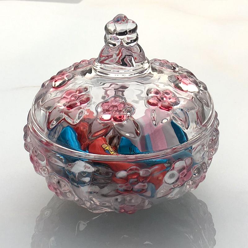 欧式婚庆透明小号玻璃糖罐糖果罐玻璃器皿咖啡糖缸喜糖盒创意摆件