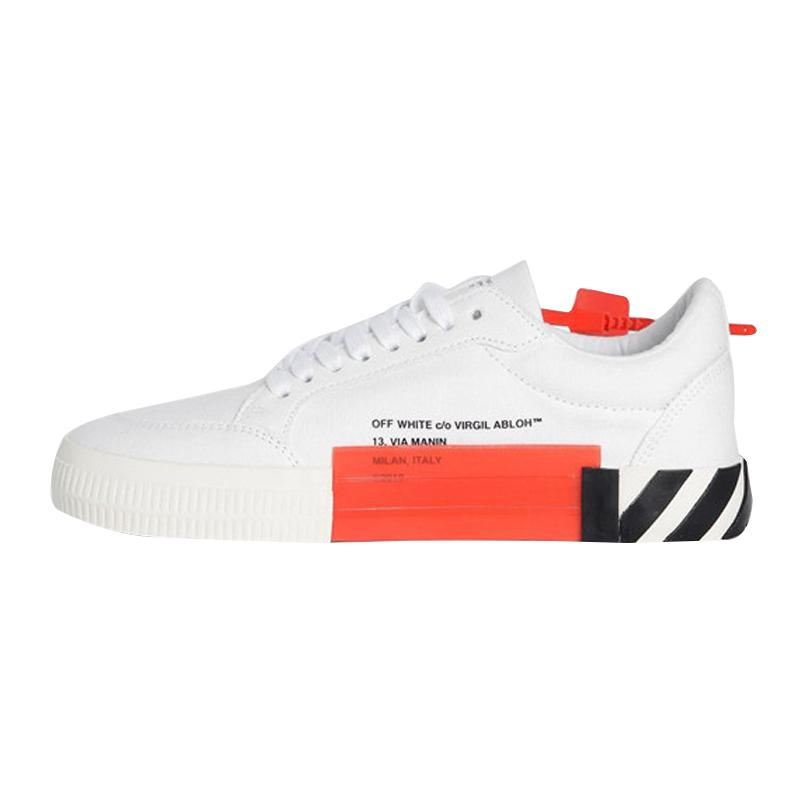 【預售】OFF WHITE 白色帆布低幫休閑運動鞋 300106