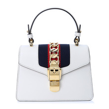 GUCCI / Gucci SYLVIE mini ribbon with metal buckle leather ladies handbag