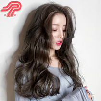 Wig woman long curly hair big wave long hair u type semi-head straight hair tablet invisible unmarked hair replacement
