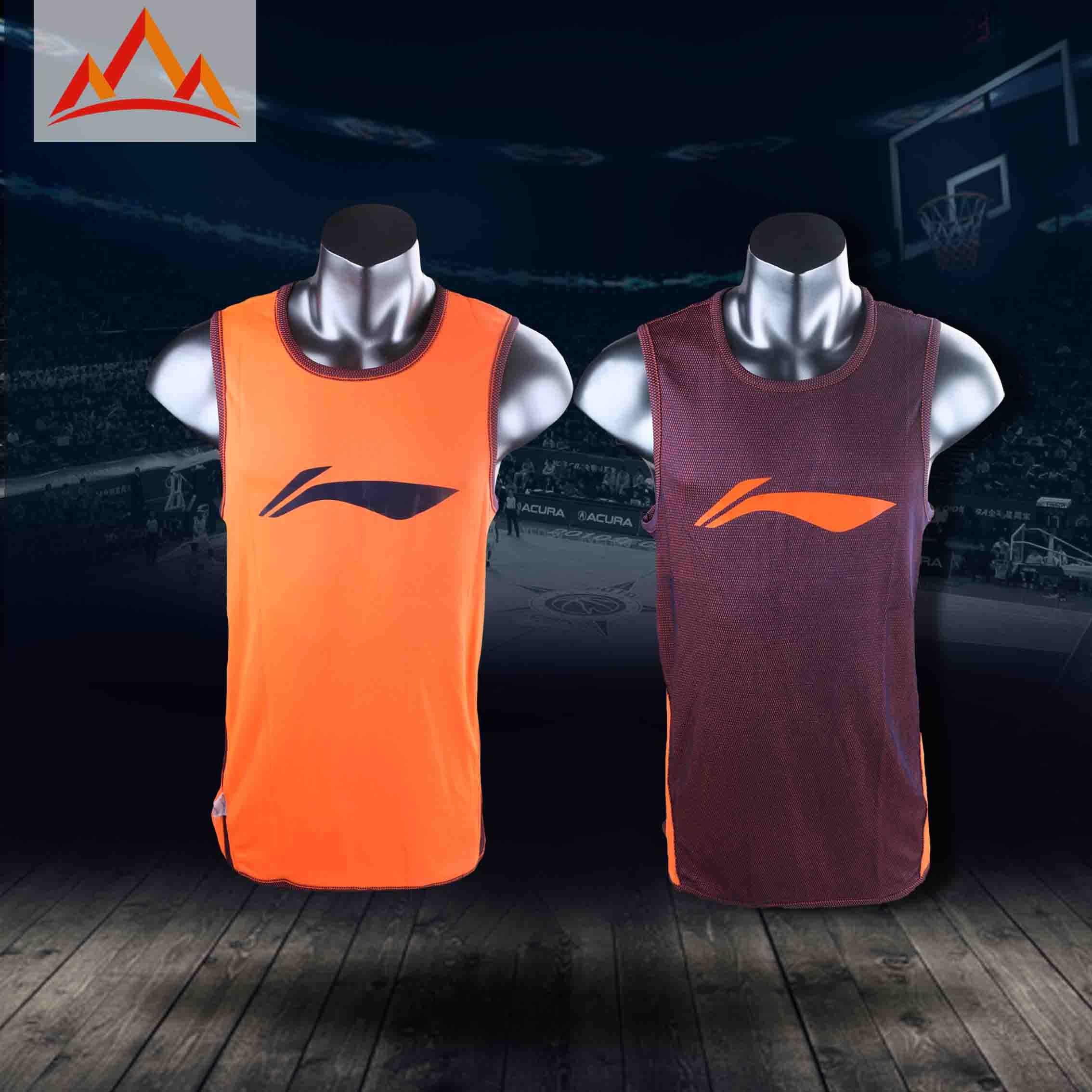 李宁CBA联赛赞助正品球员版篮球双面训练服篮球服保证正品可印字