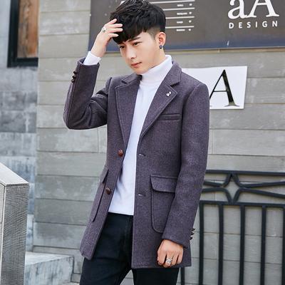 爆款呢大衣 1612 黑色 灰色 紫色 驼色 P170