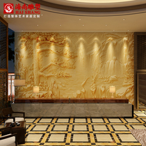 Hai Shang artificial sandstone relief mural imitation sandstone background wall decoration Mural hotel lobby Welcome Pine