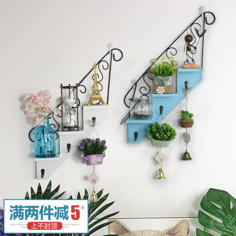 Американский ретро лестница стеллажи настенный стена на деревянный релиз кукла из полка подключить стена спальня декоративный статья