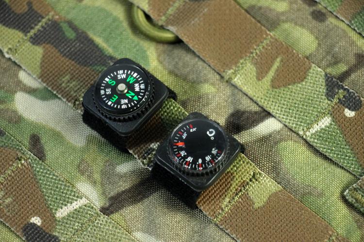 犀兕合甲 户外指南针温度计组合MOLLE挂扣式可搭配背心包等装饰