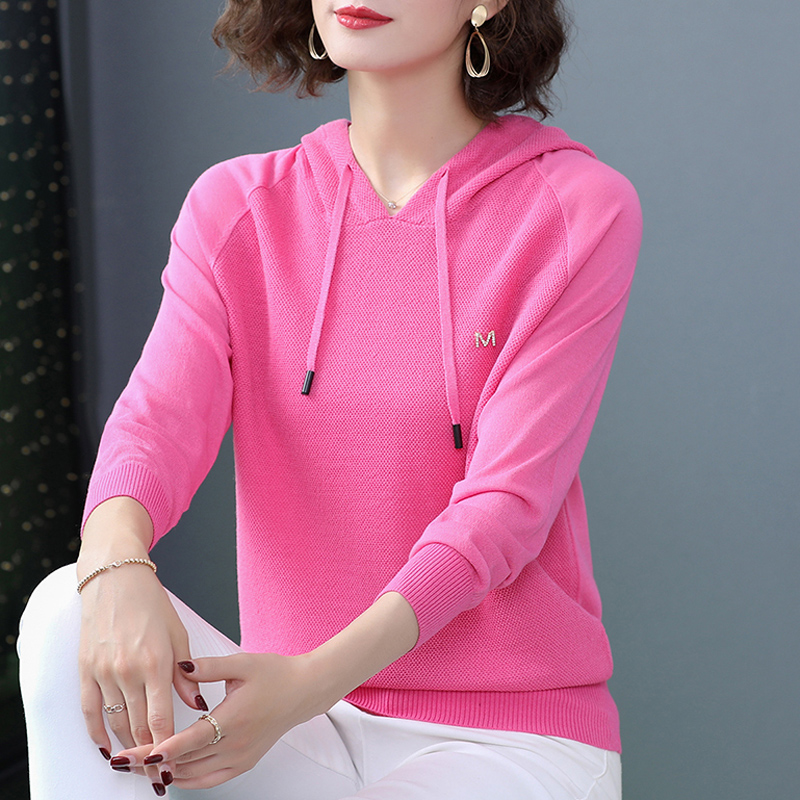 Hooded long sleeve ice silk Hoodie womens spring and summer top thin 2020 new loose set air conditioning Hoodie