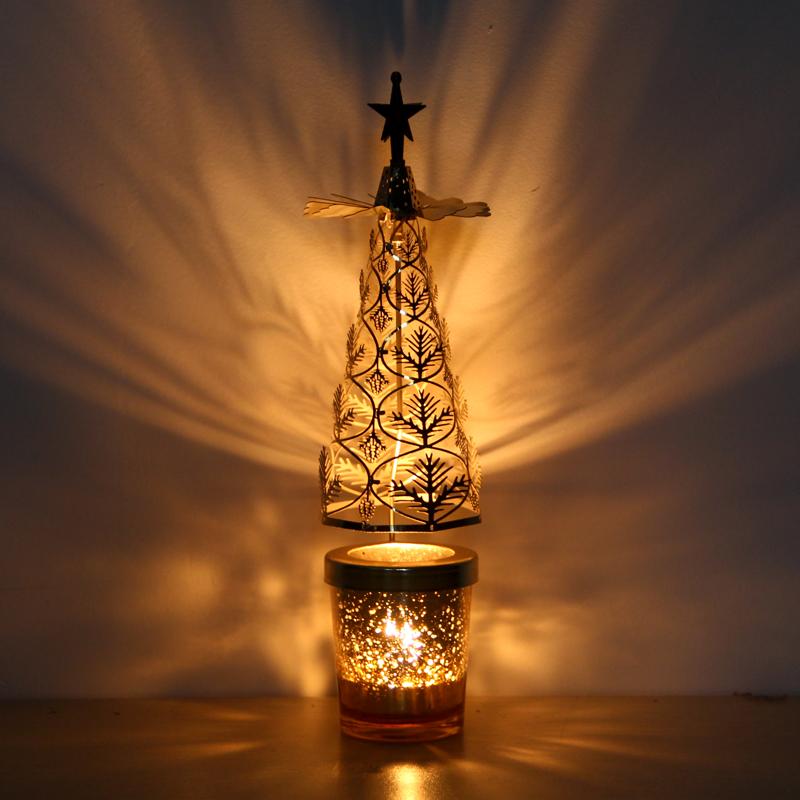 欧式铁艺旋转烛台走马灯 香薰蜡烛浪漫烛光晚餐道具用品餐桌装饰