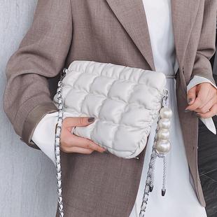 仙女温柔風小包包女2020流行新款潮韓版百搭斜挎包軟包時尚小方包