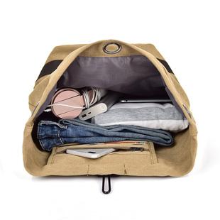 男士帆布揹包雙肩包户外休閒簡約旅行健身輕便運動大容量學生書包
